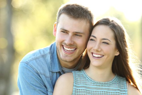 happy couple with beautiful smiles